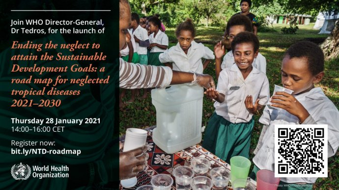 WHO Invitation to join the launch of the new road map. Image copyright World Health Organization.