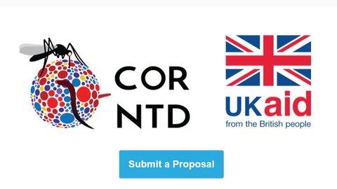 COR NTD and UKAID logos